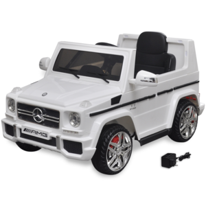 rocambolesk superbe voiture suv lectrique mercedes benz g65 2 moteurs blanc neuf pas cher. Black Bedroom Furniture Sets. Home Design Ideas