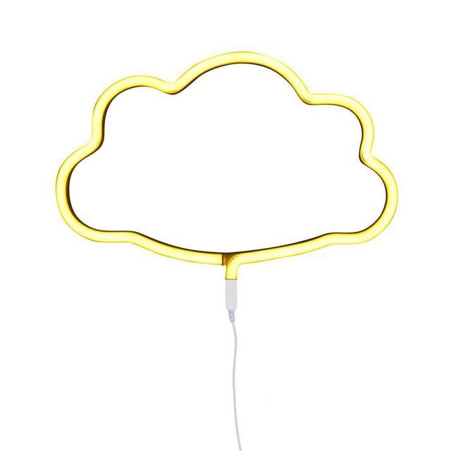 A Little Lovely Company - Neon Nuage - Applique Led Nuage Jaune L38cm - Applique designé par