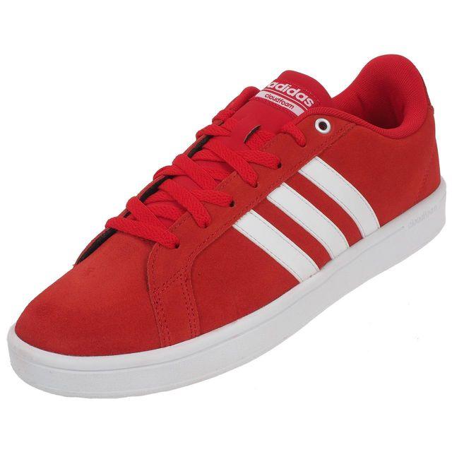 adidas neo rouge et blanc