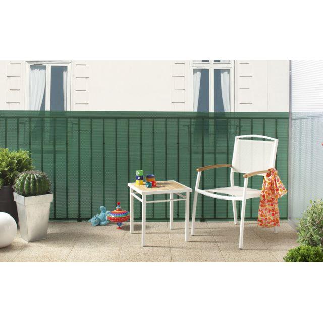 intermas brise vue plastique vert 85 occultant 1 2 x 25. Black Bedroom Furniture Sets. Home Design Ideas