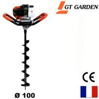 Gt Garden - Tarière thermique 52 cm3, 3 Cv + mèche 100 mm