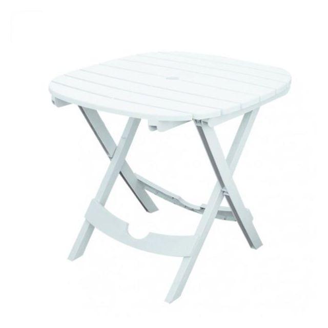 Table de jardin blanche - Pliable - Lot sans chaises