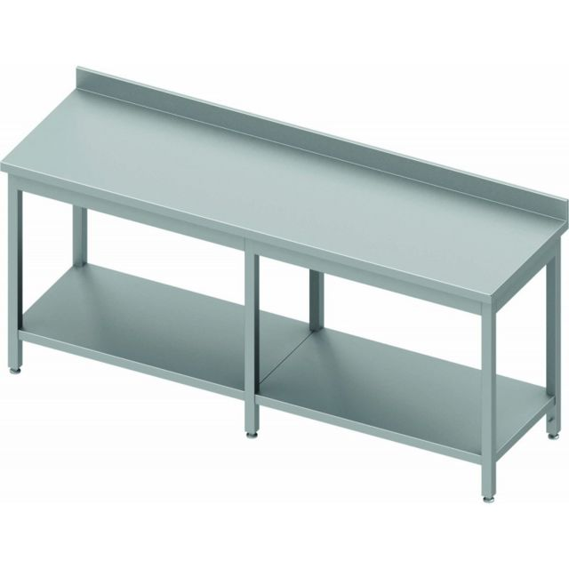 Materiel Chr Pro Table Inox Avec Etagère & Renfort - Profondeur 800 - Stalgast - inox 2000x800 800