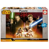 Educa Borras - Puzzle 200 pièces : Star Wars : Qui-Gon Jinn et Obi-Wan Kenobi