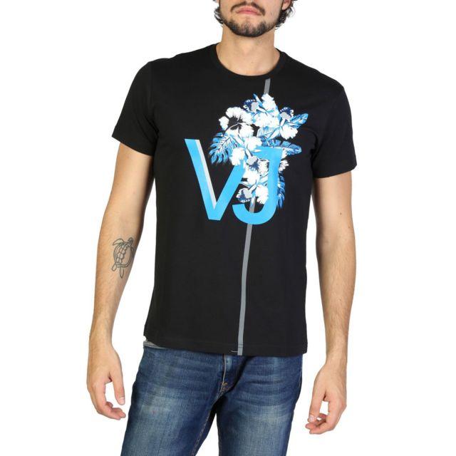 Versace - Jeans - T-shirt imprimé homme - Noir - pas cher Achat ... 6b012ee820b