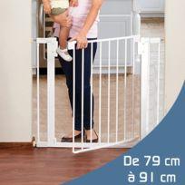 Monsieur Bebe - Barrière de sécurité enfant extensible de 79 à 91cm