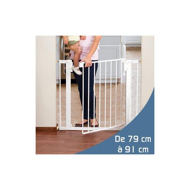 monsieur bebe barri re de s curit enfant extensible de 79 91cm pas cher achat vente. Black Bedroom Furniture Sets. Home Design Ideas