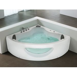 beliani baignoire d 39 angle baignoire baln o whirlpool. Black Bedroom Furniture Sets. Home Design Ideas