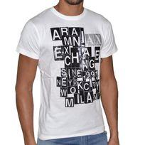 Armani - Exchange - Tee Shirt Manches Courtes - Homme - Ax 02 - Blanc