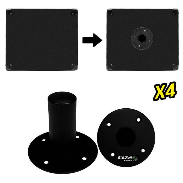 Pronomic BAT-02 Fourchette pour Support pour Deux Adaptateurs de Pieds dEnceinte
