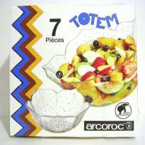 Arc - Service à Crème ou à fruits verre 7 Pièces Totem