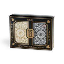 Bicycle - Cartes Kem Arrow Black and Gold poker regular : 2 jeux