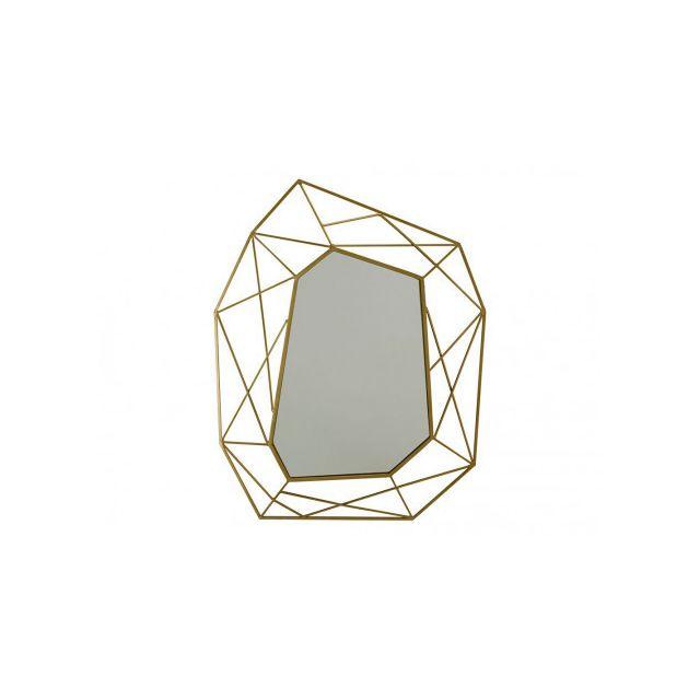Marque Generique Miroir géométrique Azael - L56xH74 cm - Métal - Laiton