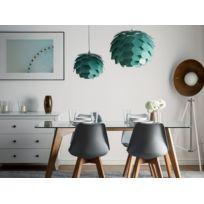 Beliani - Lampe suspension verte petit abat-jour Segre