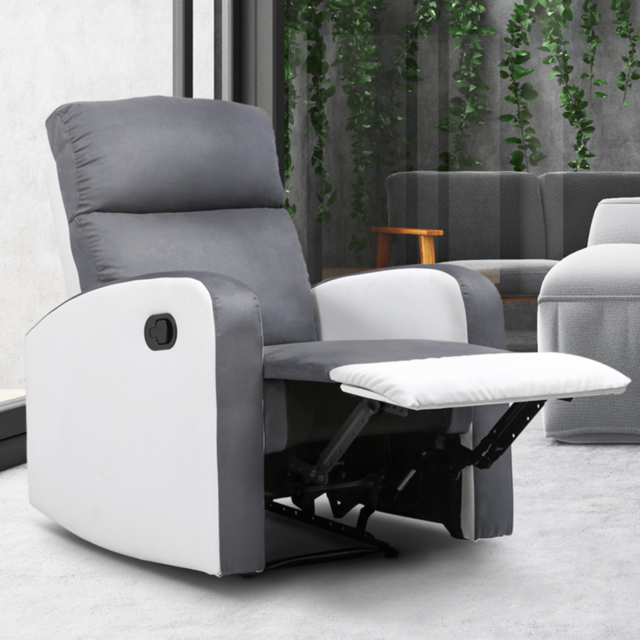 Idmarket Fauteuil relaxation inclinable gris anthracite et