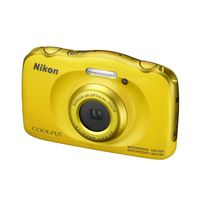 NIKON - appareil photo compact - coolpix w100 jaune