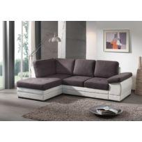 Modern sofa - Lyon angle gauche gris.blanc