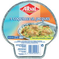 Albal - Plat alu Coquilles st jacques x5