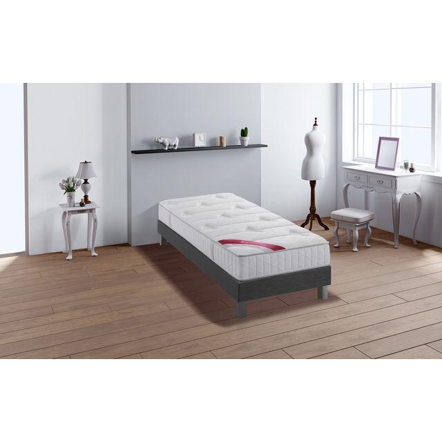 relaxima performance ensemble sommier matelas ressorts ensach s m moire de forme simmons. Black Bedroom Furniture Sets. Home Design Ideas