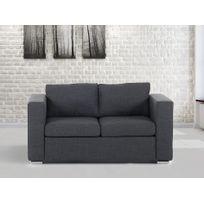 Beliani - Canapé 2 places - canapé en tissu gris foncé- sofa Helsinki