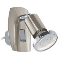 Eglo - Lampe prise électrique Mini H10 cm - Nickel
