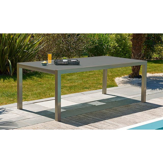 Dcb - Table En Aluminium Et Duranite 6 Places - Barcelone ...