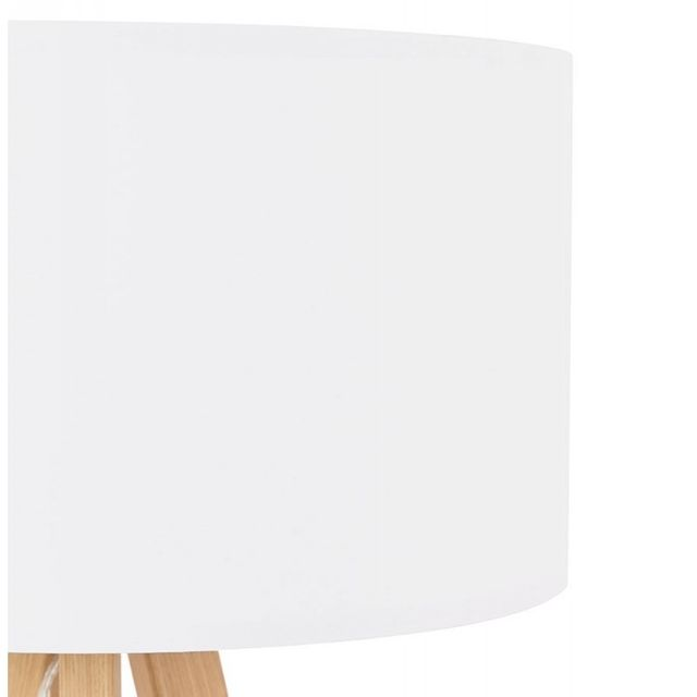 """Paris Prix - Lampe à Poser """"Fidelio"""" 64cm Blanc"""