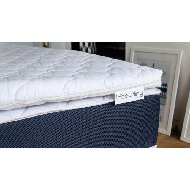 hbedding sur matelas d houssable m moire de forme 160x200 memory plus mousse haute densit. Black Bedroom Furniture Sets. Home Design Ideas