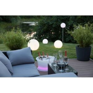techneb lampe lumineuse globe int rieur ext rieur blanc 50 cm pas cher achat vente. Black Bedroom Furniture Sets. Home Design Ideas