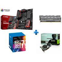 MSI - Carte mère Z270 GAMING M7 Socket 1151 - Chipset Z270 Kabylake + Processeur Intel Core i7-7700K 4.20GHz LGA1151 - KABYLAKE + Ballistix Sport LT 16 Go 2 x 8 Go DDR4 - 2400 Mhz - CAS 16 + GeForce GTX 1060 OC 6Go DDR5 192bit DP 1.4, HDMI 2.0b, Dual Li