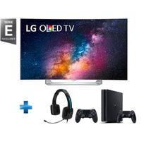 LG - TV LED 55'' Full HD Smart TV 3D + Console PS4 1To + Manette Dualshock 4 Noire V2 + Casque TRITTON Kama