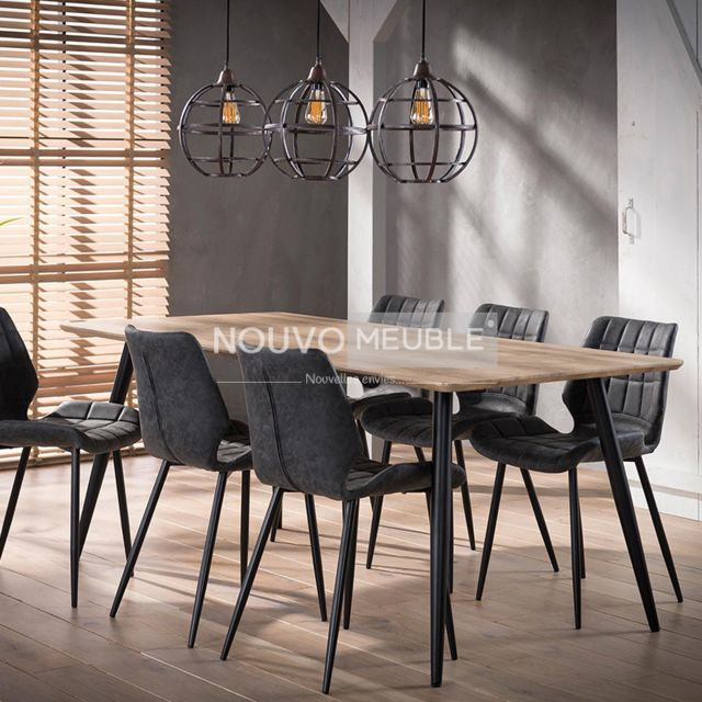Nouvomeuble Table à manger moderne Carmel