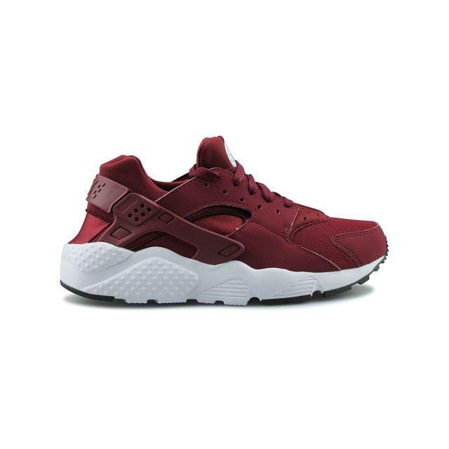 newest 1ed2f cd758 Nike - Huarache Run Junior Rouge Bordeaux 654275-602 - pas cher Achat    Vente Baskets enfant - RueDuCommerce