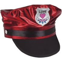 Boland - Casquette Police des Coeurs Rouge - Adulte