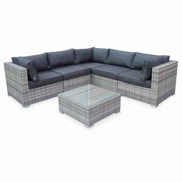 jardin angle gris. Black Bedroom Furniture Sets. Home Design Ideas