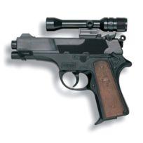 Edison - S.P.A - 21922 - Jeu De Tir - Revolver Leopardmatic Avec Telescope 13 Coups 17,5CM