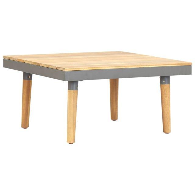 Vidaxl Bois Solide d'Acacia Table Basse de Jardin Table d'Appoint Salon Patio