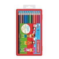 Stabilo - Crayon de couleur Color couleurs assorties - Boîte de 12