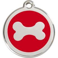 Les Animaux De La Fee - Médaille Chien Red Dingo Os Rouge 20mm