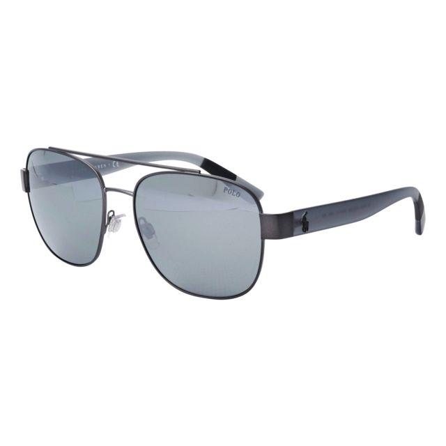 19048f6168 Ralph Lauren - Lunettes de soleil Ralph Lauren Ph-3119 91576G Homme Argent