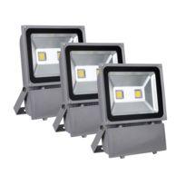 Showlite - Fl-2100 projecteur Led Ip65 100 watts 11000 lumens lot de 3