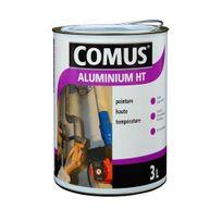 Comus - Peinture Aluminium Haute Température 0,75L brillante Gris argent - 12888