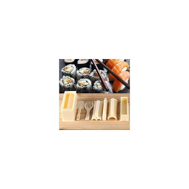 Alpexe 10 Accessoire pour fabriquer les Sushi et Ustensiles de cuisine Plastique Haute qualité