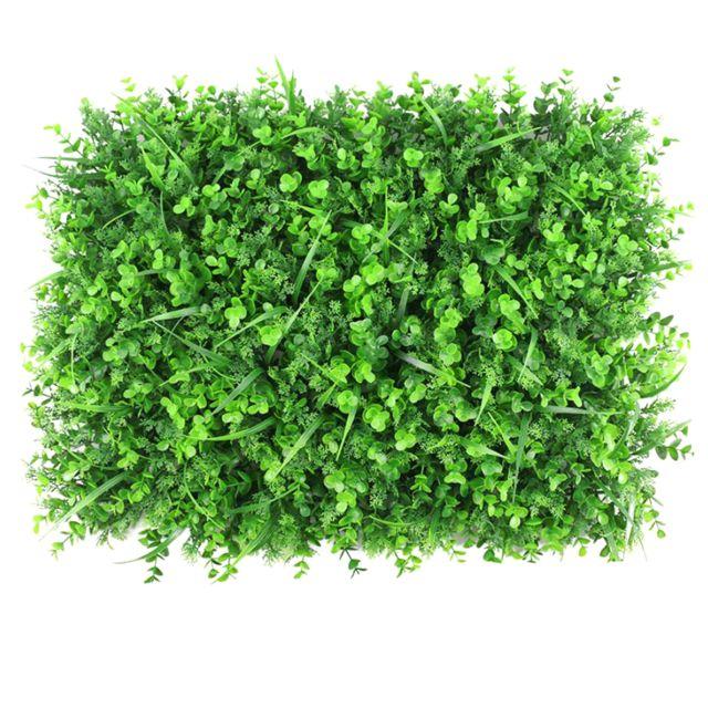 Décor de maison de gazon artificiel 40x60cm décor 3 types d'herbe
