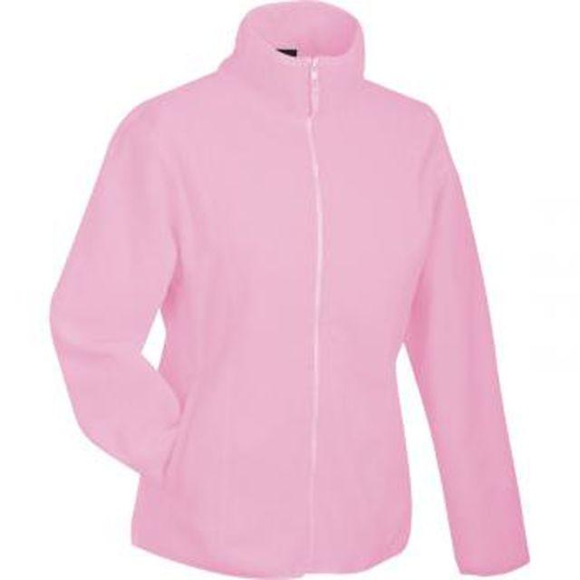 JAMES & NICHOLSON Veste polaire zippée femme - Jn049 - rose clair