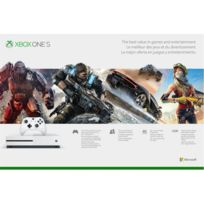 Console Xbox One S 1 TO + 3 mois Live + 3 mois Game Pass