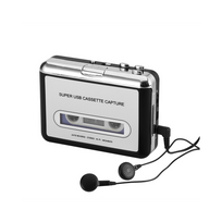 Auto-hightech - Convertisseur Cassette en-MP3 - Plug and Play, Compatible Win + Mac, Auto Reverse, Logiciel Audacity