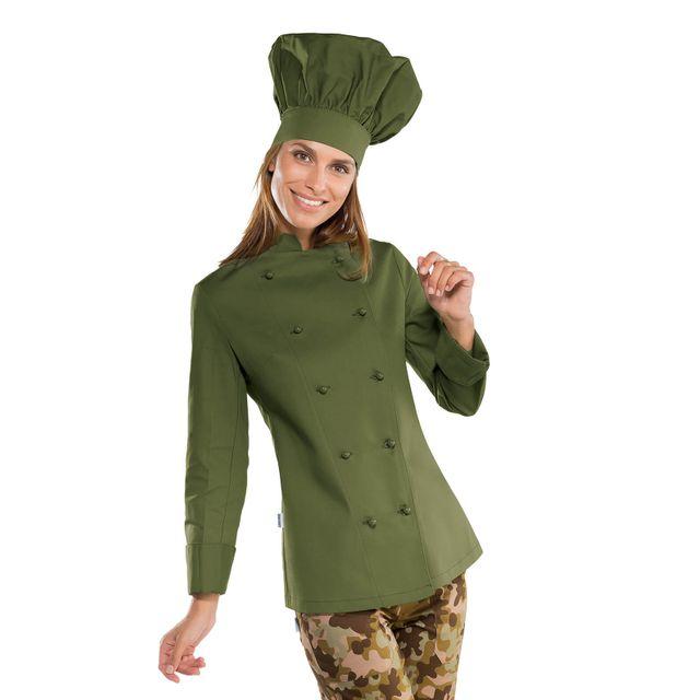 Isacco Veste Cuisine Femme Vert Olive Pas Cher Achat Vente
