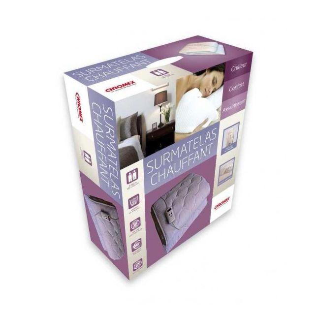 chromex confort chromex surmatelas chauffant 2 places 1 t l commande 31310 pas cher achat. Black Bedroom Furniture Sets. Home Design Ideas