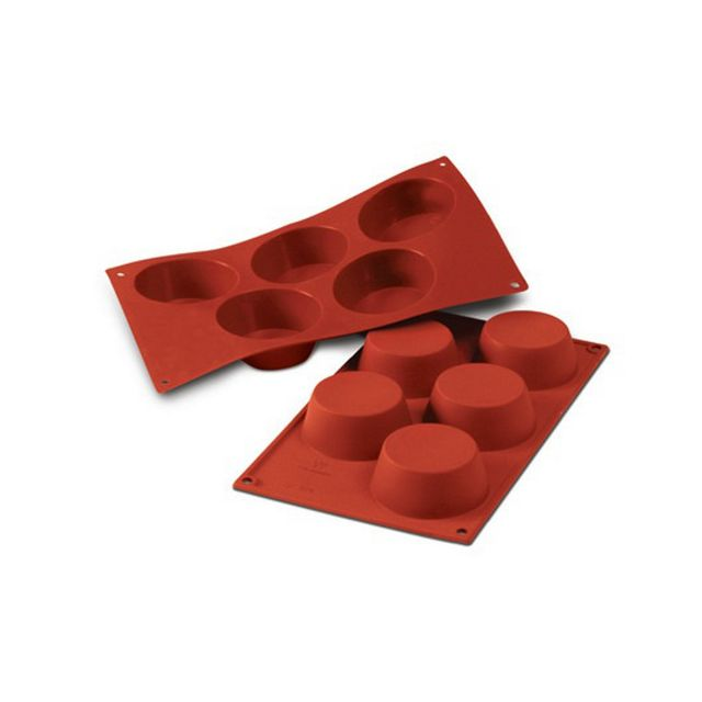Guery Moule silicone muffins 5 empreintes